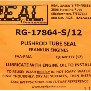 RG-17864-12 label for silicone rubber valve cover gaskets